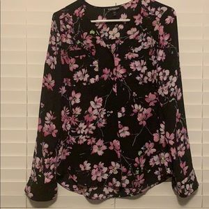 Express Tops - Floral button up
